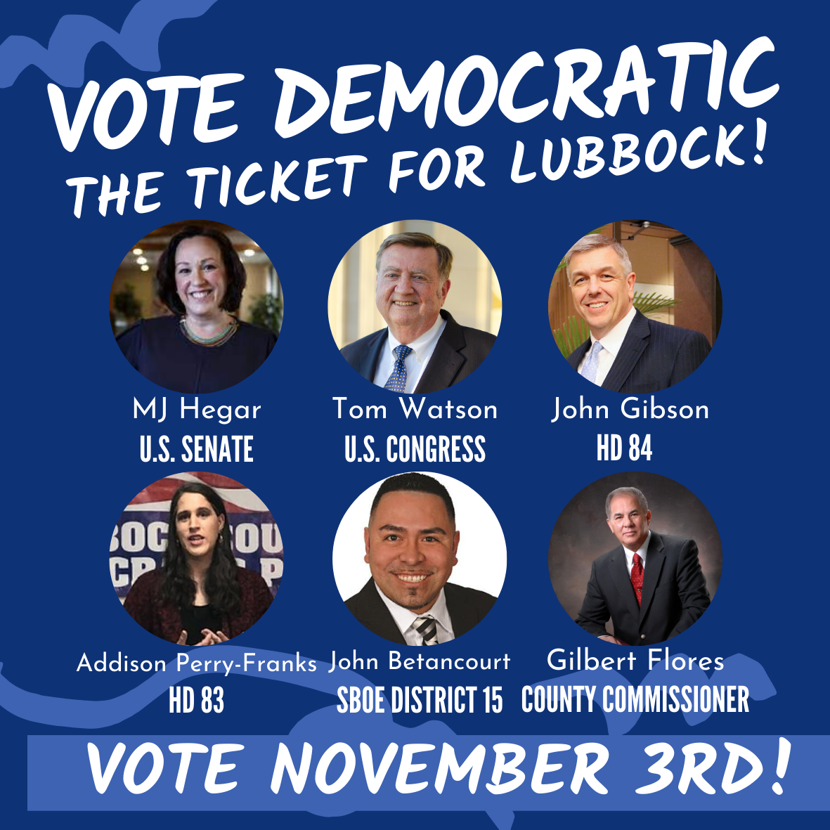Lubbock Democratic Ticket